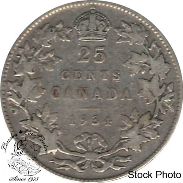 Canada: 1934 25 Cents VG8