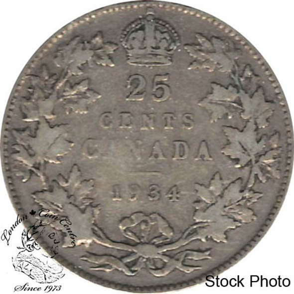 Canada: 1934 25 Cents F12