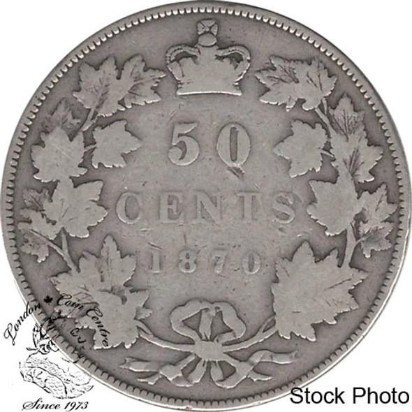 Canada: 1870 50 Cents LCW VG8