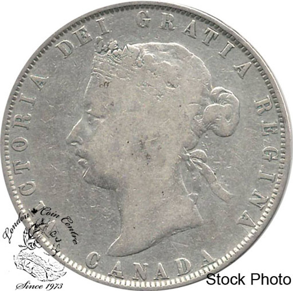 Canada: 1872H 50 Cents VG8