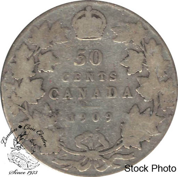 Canada: 1909 50 Cents VG8