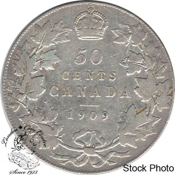 Canada: 1909 50 Cents F12