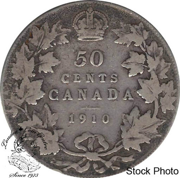 Canada: 1910 50 Cents Vic leafs F12
