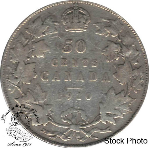 Canada: 1910 50 Cents Ed leafs VG8