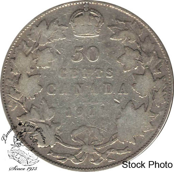 Canada: 1911 50 Cents VG8