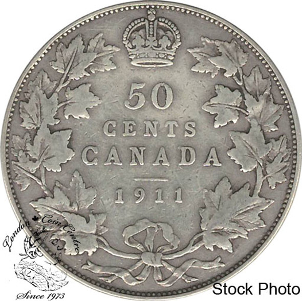 Canada: 1911 50 Cents F12