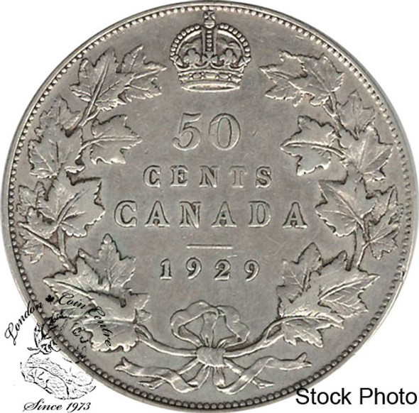 Canada: 1929 50 Cents VF20
