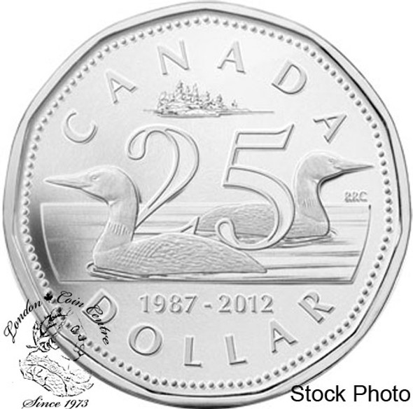 Canada: 2012 $1 25th Anniversary of the Loonie Pure Silver Coin