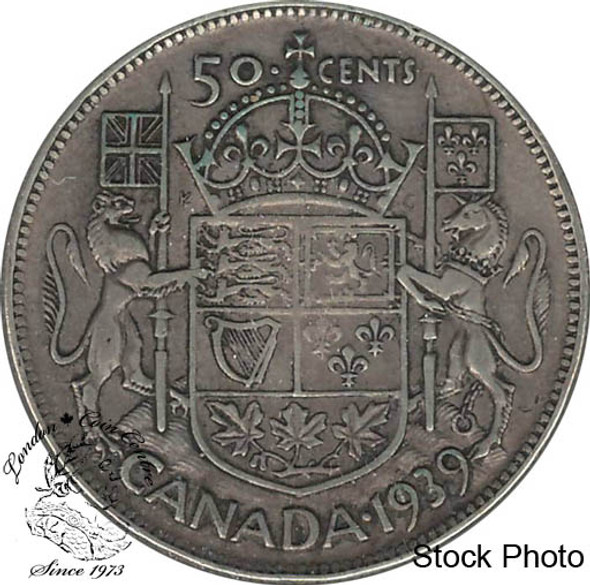 Canada: 1939 50 Cents VF20