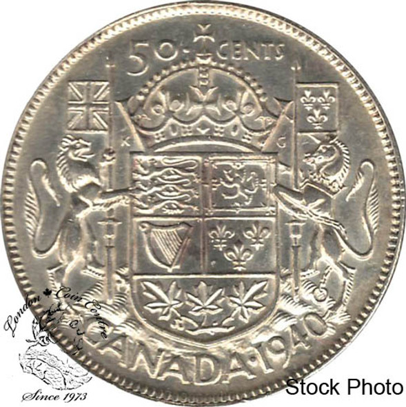 Canada: 1940 50 Cents AU50