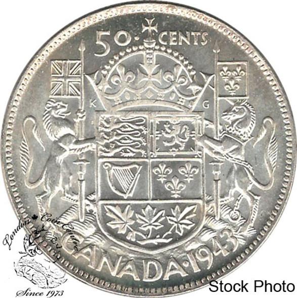 Canada: 1943 50 Cents Near 3 MS62
