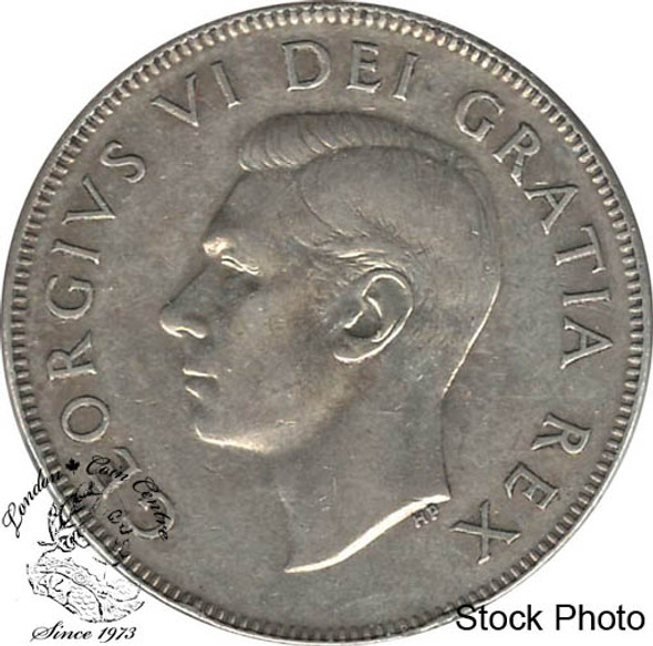 Canada: 1950 50 Cents Des 0 CIRCULATED
