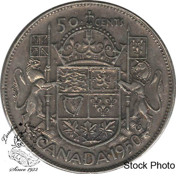 Canada: 1950 50 Cents No Des 0 VF20