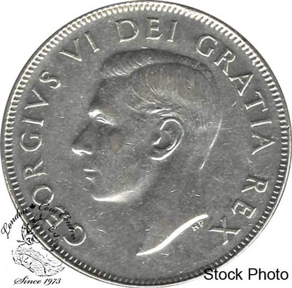 Canada: 1950 50 Cents No Des 0 EF40