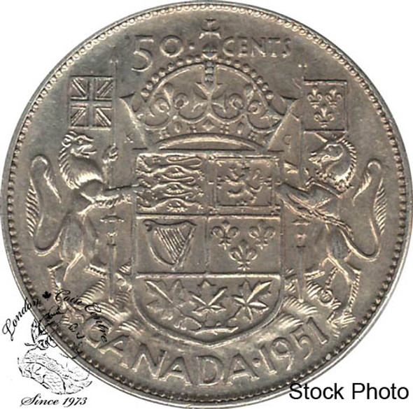 Canada: 1951 50 Cents CIRCULATED