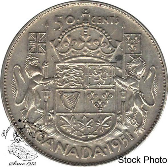 Canada: 1951 50 Cents AU50