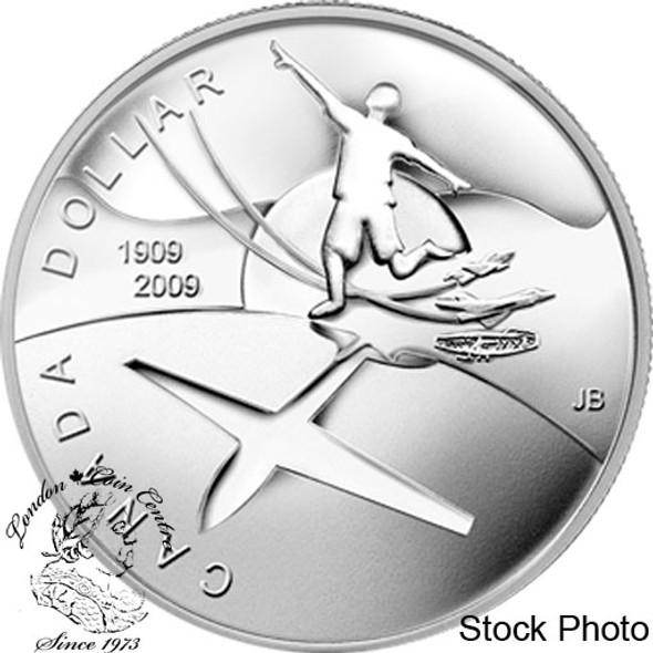 Canada: 2009 $1 100th Anniversary of Flight in Canada BU Silver Dollar Coin
