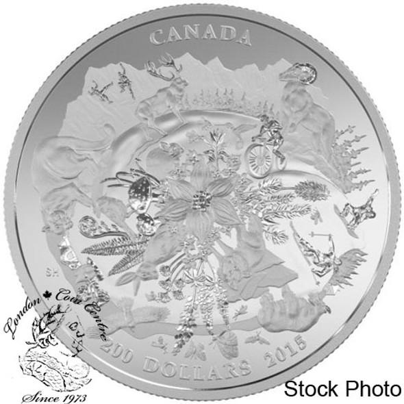 Canada: 2015 $200 Canada's Rugged Mountains Silver Coin