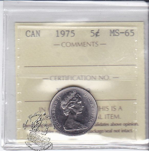Canada: 1975 5 Cents ICCS MS65 Coin nr 2