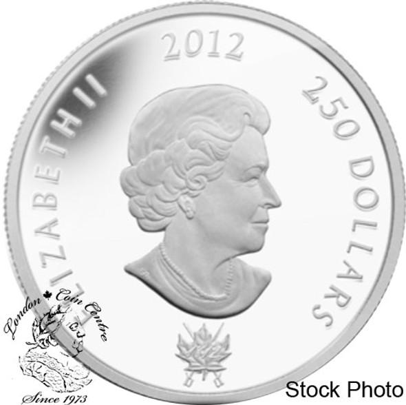 Canada: 2012 $250 King George III Peace Medal Kilogram Fine Silver Coin