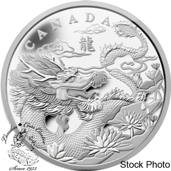 Canada: 2012 $250 Year of the Dragon Kilogram Fine Silver Coin