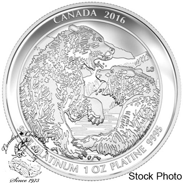 Canada: 2016 $300 Grizzly Bear The Struggle Silver Coin