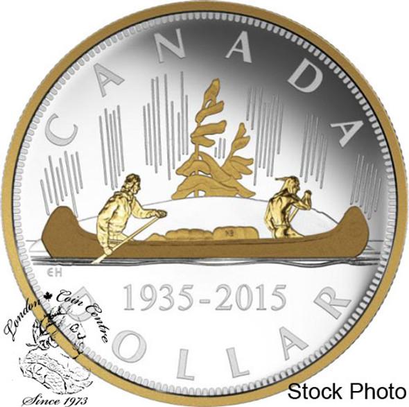 Canada: 2015 $1 Renewed Silver Dollar The Voyageur Silver Coin
