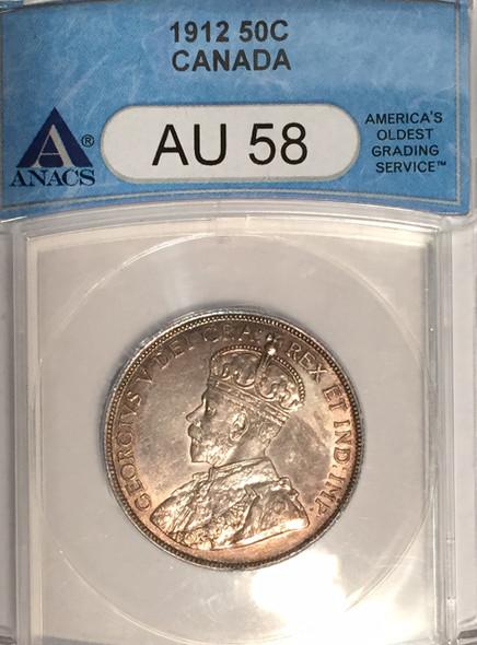 Canada: 1912 50 Cent ANACS AU58