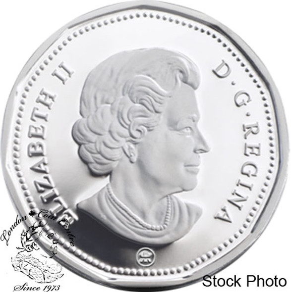 Canada: 2008 $1 Lucky Loonie Sterling Silver Coin
