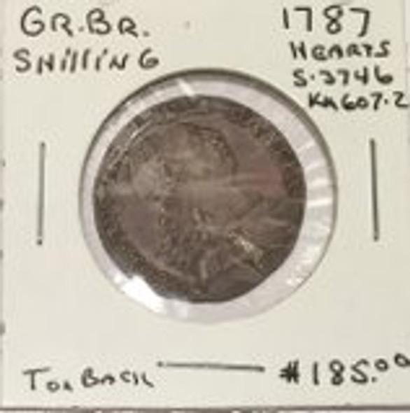 Great Britain: 1787 Shilling George III #2