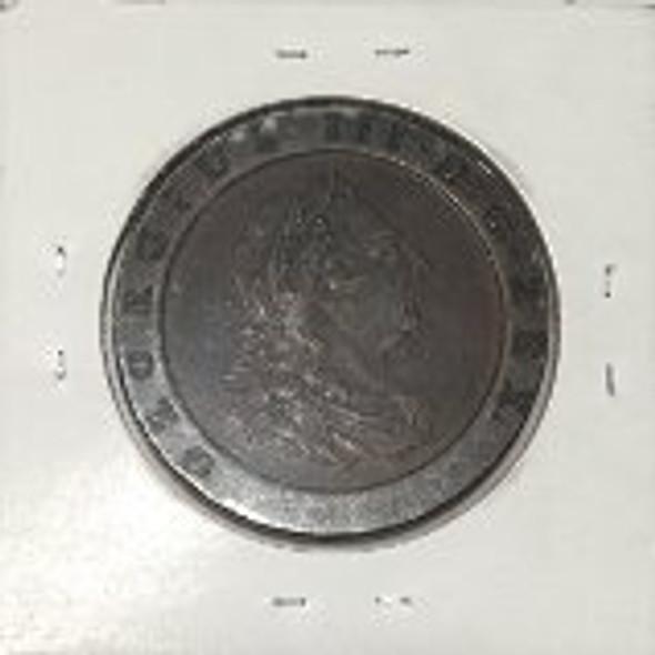 "Great Britain: 1797 2 Pence George III ""Cartwheel"" #1"