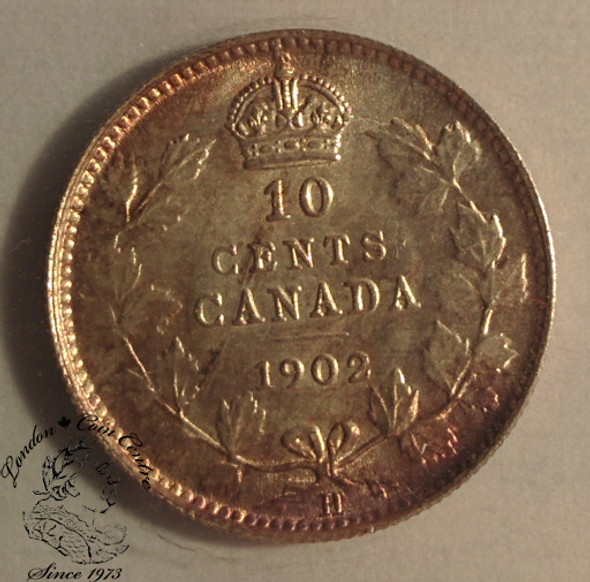 Canada: 1902H 10 Cent ICCS MS63