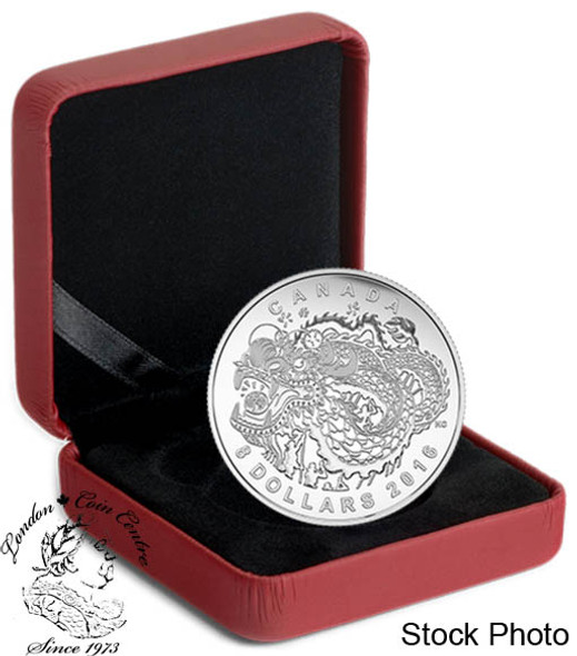 Canada: 2016 $8 Dragon Dance Silver Coin