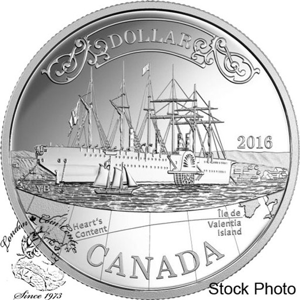 Canada: 2016 $1 150th Anniversary of the Transatlantic Cable Proof Silver Dollar