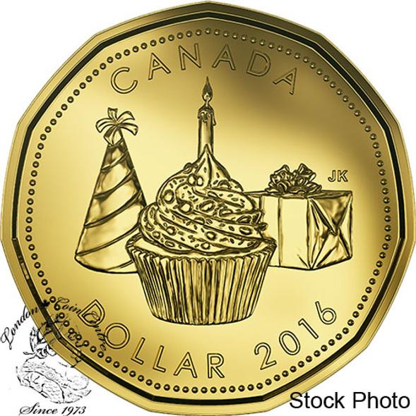 Canada: 2016 $1 Cupcake Presents Birthday Loonie