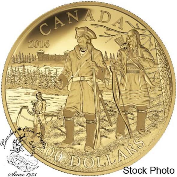 Canada: 2016 $200 Great Canadian Explorers Series: Pierre Gaultier de la Verendrye Gold Coin