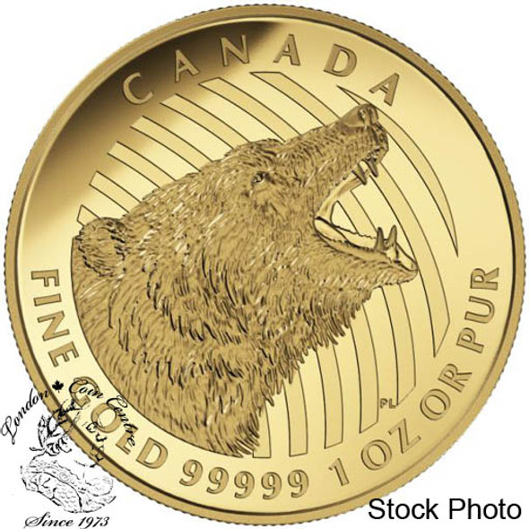 Canada: 2016 $200 Roaring Grizzly Bear Gold Coin