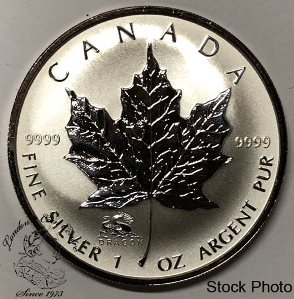 Canada: 2000 $5 Silver Maple Leaf with Dragon Privy Coin