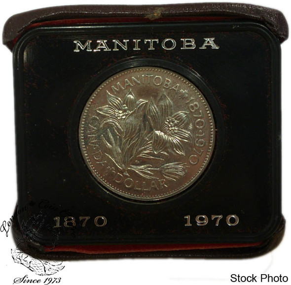 Canada: 1970 $1 Nickel Proof Like Dollar Coin in Maroon Case