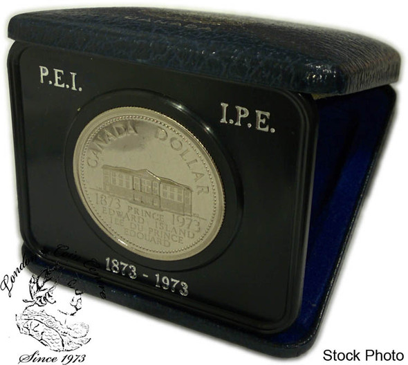 Canada: 1973 $1 PEI Nickel Proof Like Dollar Coin in Case