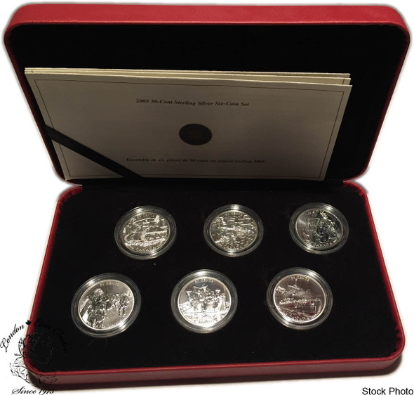 Canada: 2005 50 Cent Battle of Britain Six Coin Sterling Silver Proof Set