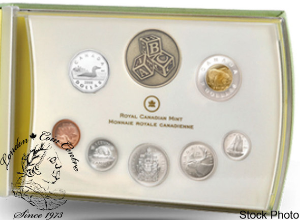 Canada: 2008 Baby Sterling Silver 7 Coin Set