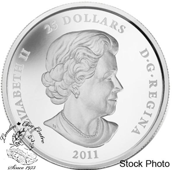 Canada: 2011 $25 Toronto City Map Silver Coin