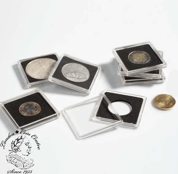 19 mm - Quadrum Square Coin Capsule (10 pack)