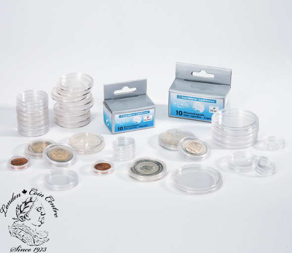 18 mm - Round Coin Capsule (10 pack)