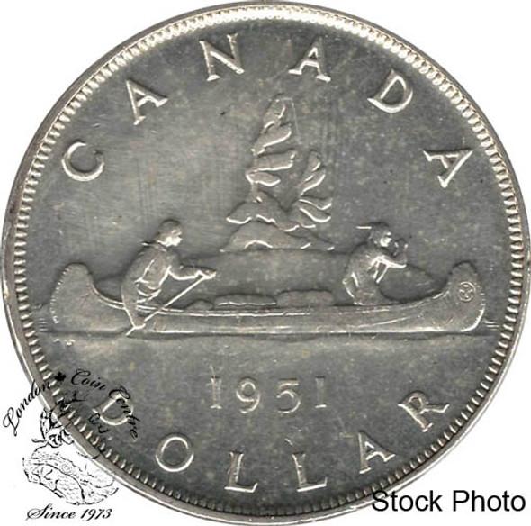 Canada: 1951 $1 Arn. AU50