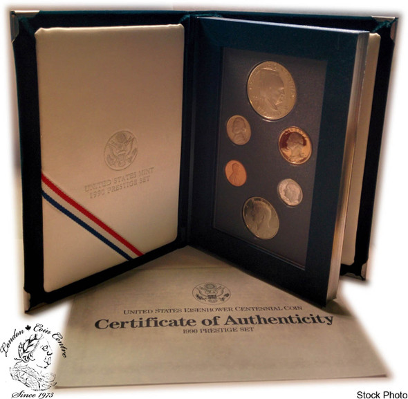 United States: 1990 Prestige Proof Coin Set