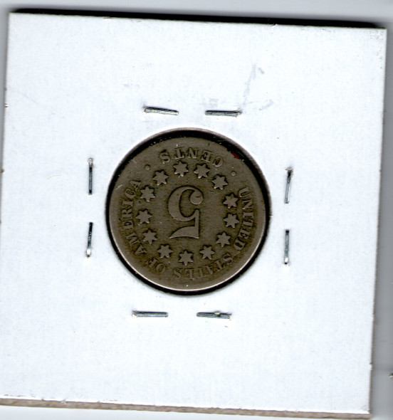 United States: 1867 Five Cent  without rays G4