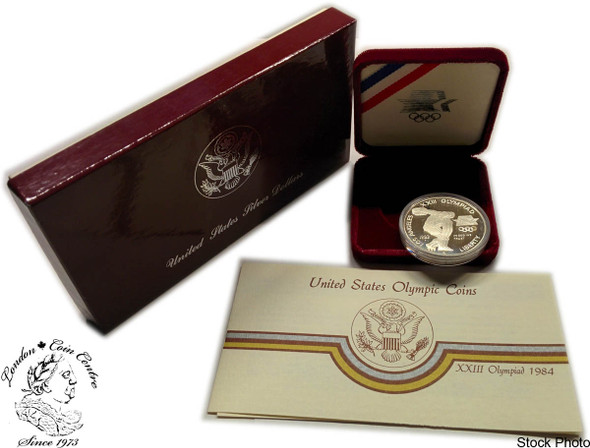 United States: 1983 $1 Los Angeles Summer Olympic Games Proof Silver Dollar