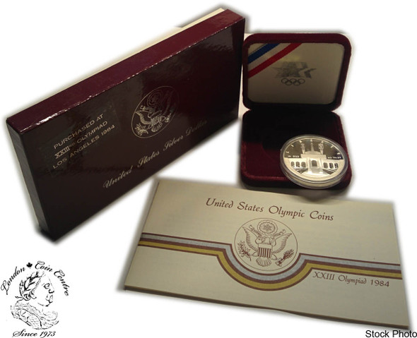 United States: 1984 $1 Los Angeles Summer Olympic Games Proof Silver Dollar